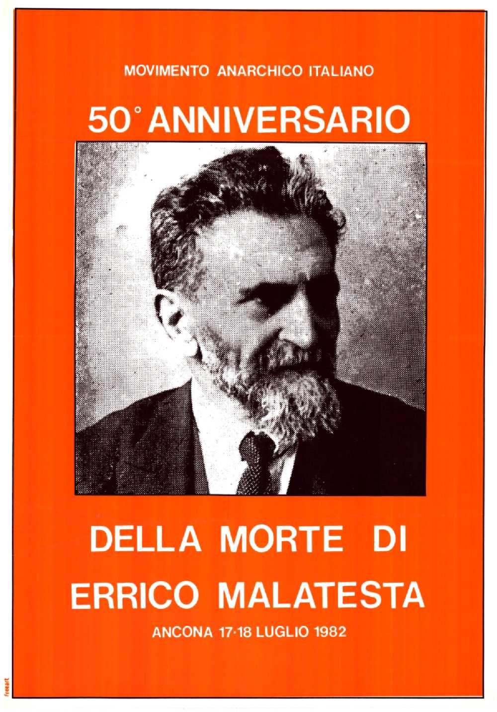 Cartell del Cinquantenari de la mort de Malatesta