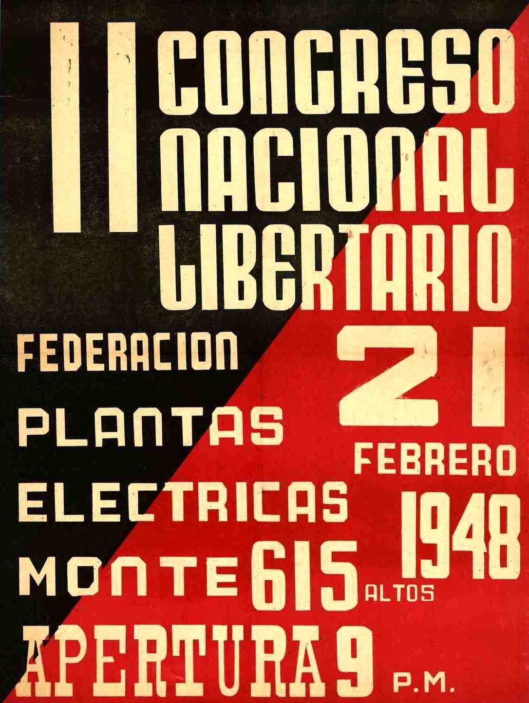 Cartell del II Congrés Nacional Llibertari de Cuba (1948)