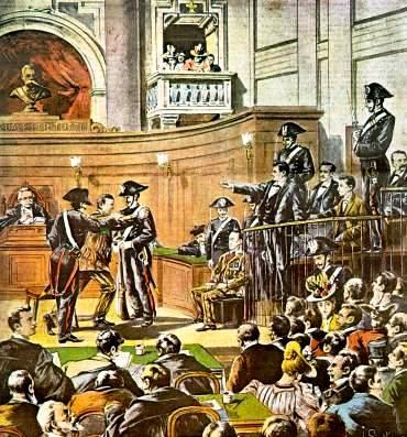 """Judici de Pietro Acciarito segons """"La Tribuna Illustrata"""" del 9 de juny 1899"""