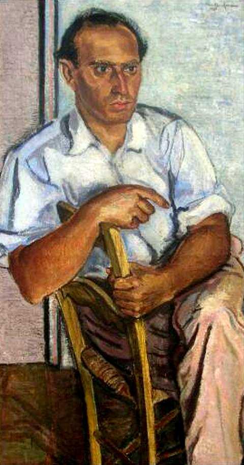 Jankel Adler pintat per Arthur Kaufmann durant la seva estada a Mallorca (1930)