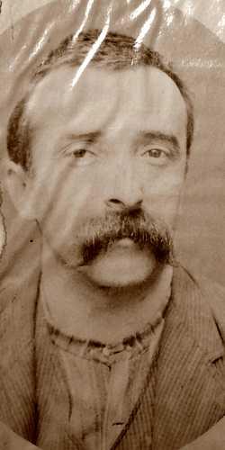 Foto policíaca de Cesare Agostinelli (ca. 1894)