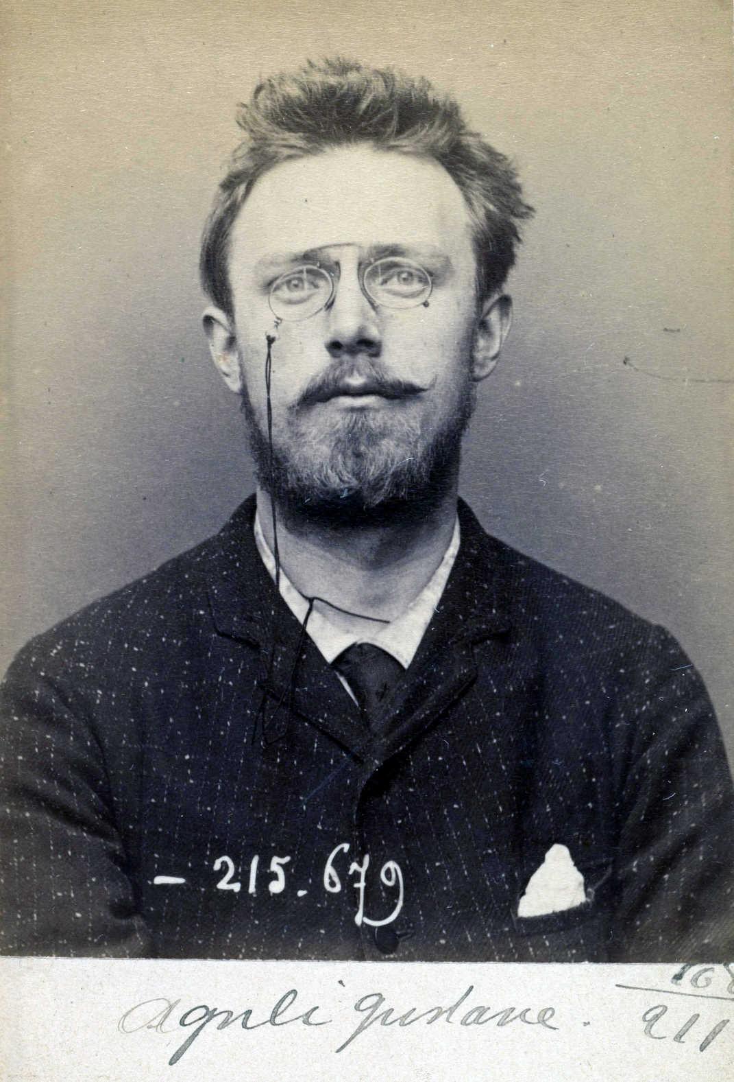 Foto policíaca d'Ivan Aguéli (14 de març de 1894)