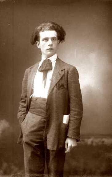 Aldo Aguzzi fotografiat per Vittorio Cicala (Voghera, 28 de març de 1921)