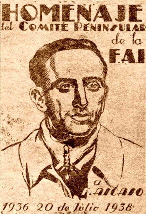 Portada del fullet d'homenatge a Francisco Ascaso