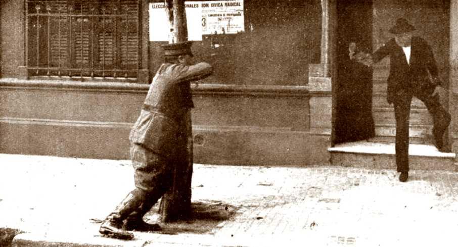 """Reconstrucció de l'atemptat de Varela segons la revista argentina """"Caras y Caretas"""" del 3 de feber de 1923"""