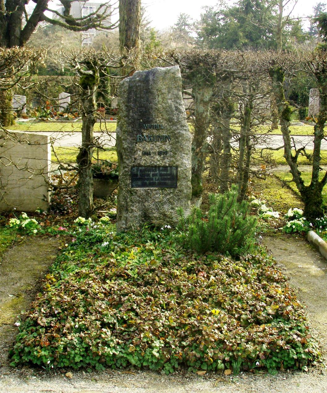 Tomba de Bakunin al Bremgartenfriedhof de Berna