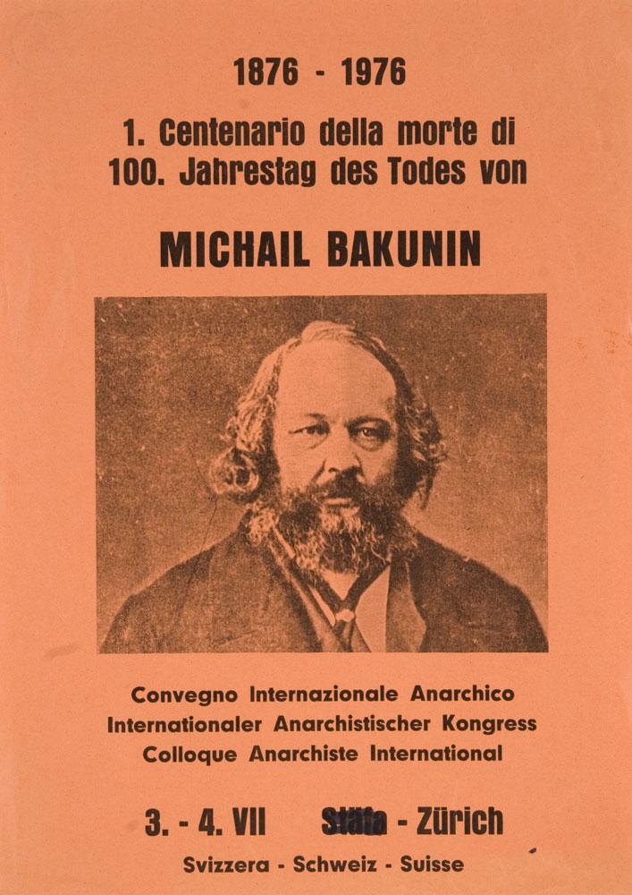 Cartell de congrés del centenari de Bakunin [CIRA-Lausana]