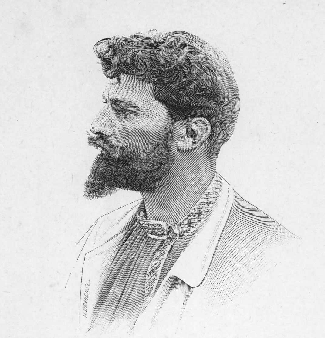 Gravat de William Barbotin realitzat per Henri Othon Brauer d'un autoretrat gravat per Barbotin mateix