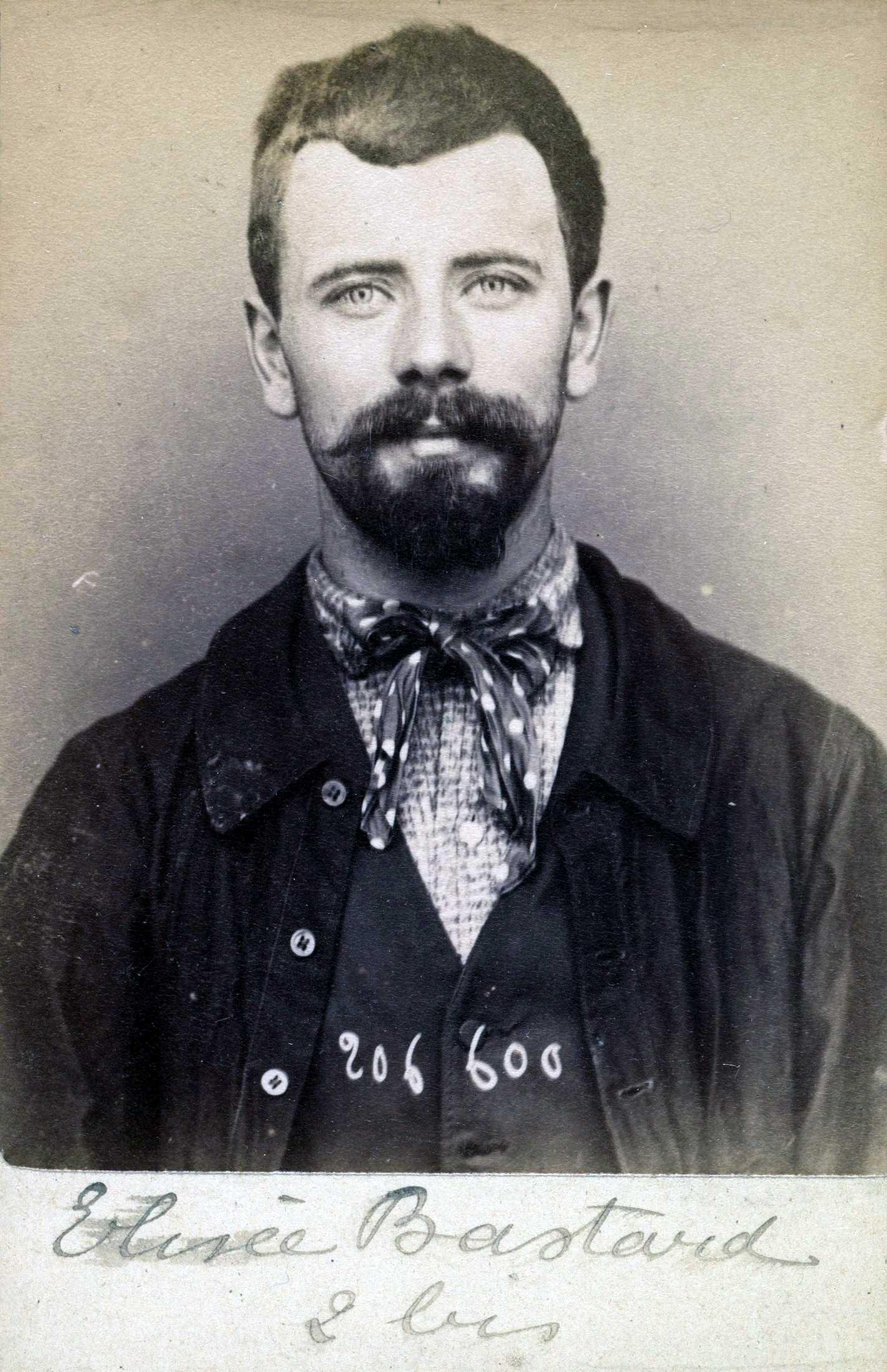 Foto policíaca d'Élisée Bastard (20 d'agost de 1893)