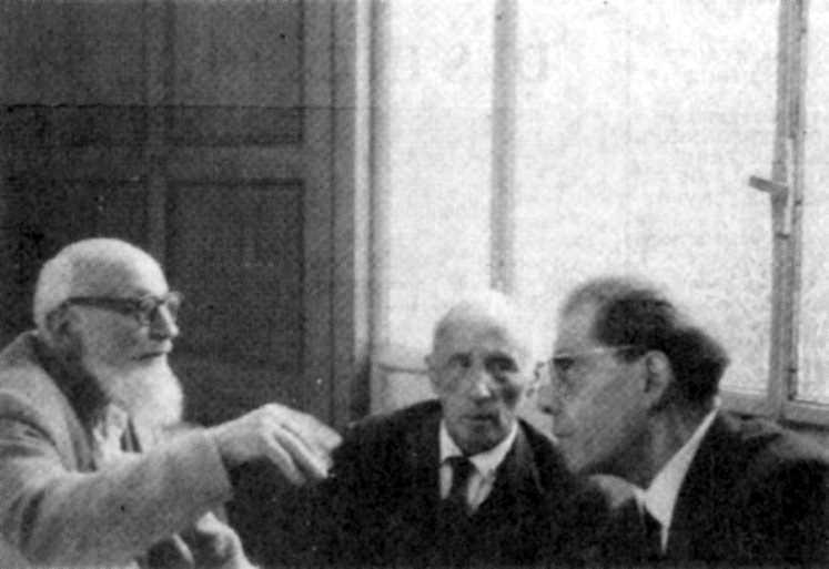 D'esquerra a dreta: Louis Simon, Louis Lecoin i Émile Bauchet
