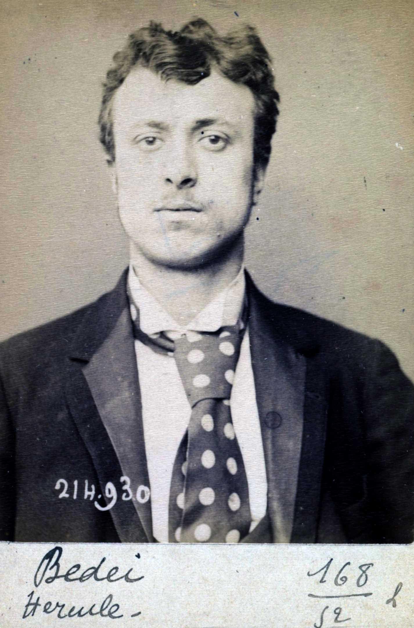 Foto policíaca d'Hercule Bedéi (1 de març de 1894)