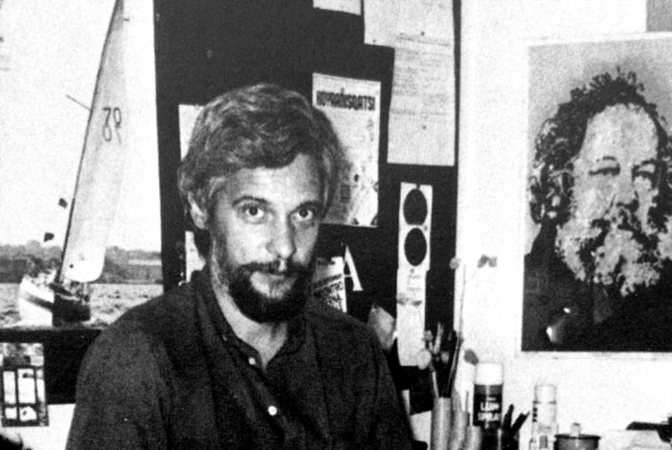 Dario Bernardi durant la Trobada Anarquista Internacional de Venècia (setembre de 1984)