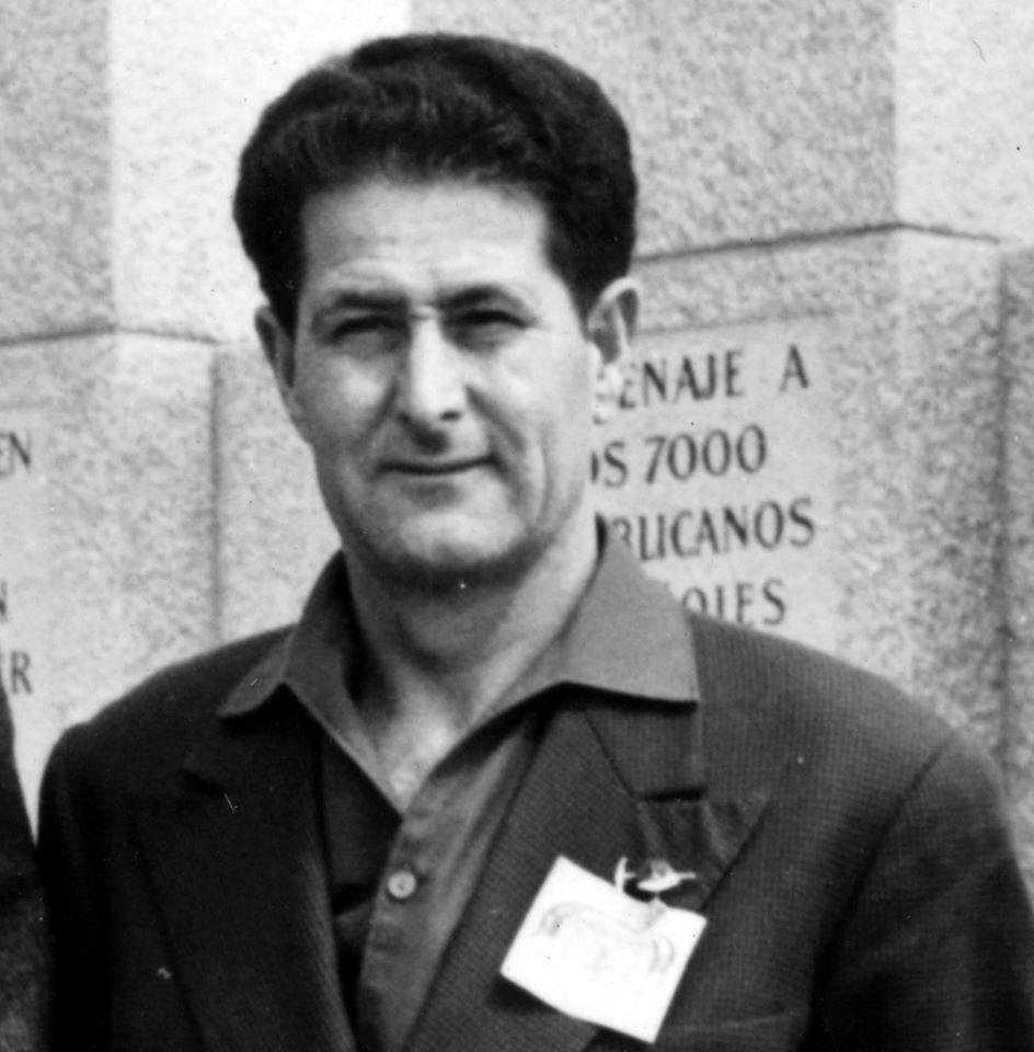 Marcelino Bilbao en un viatge a Mauthausen (1962)