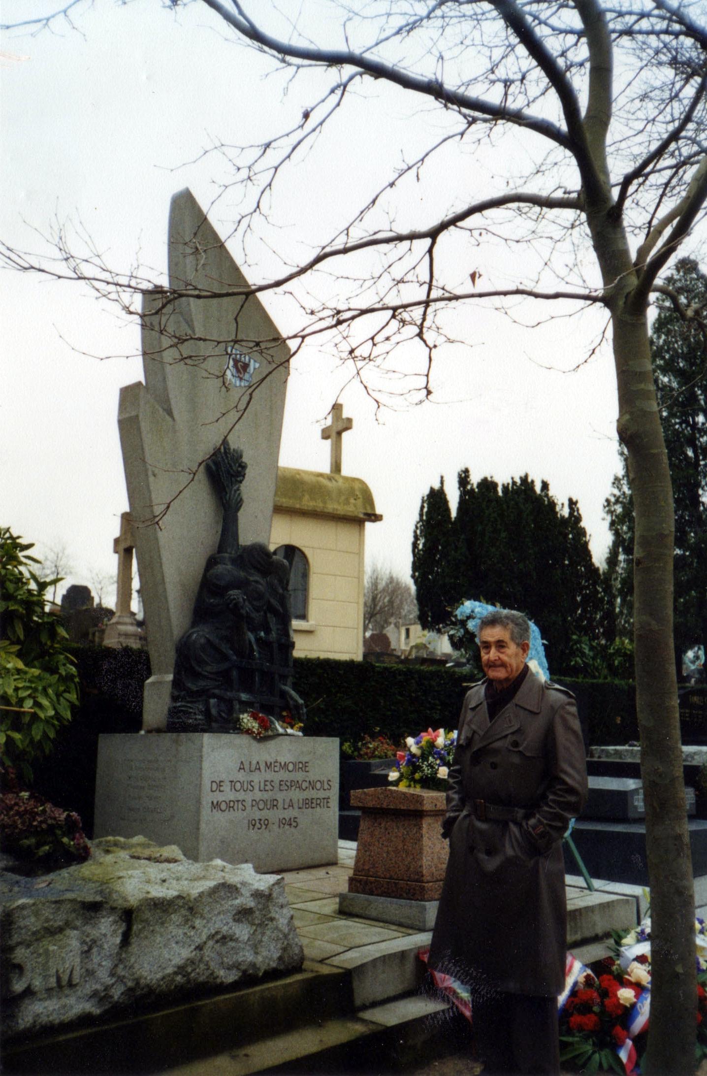 Marcelino Bilbao al cementiri parisenc de Père-Lachaise