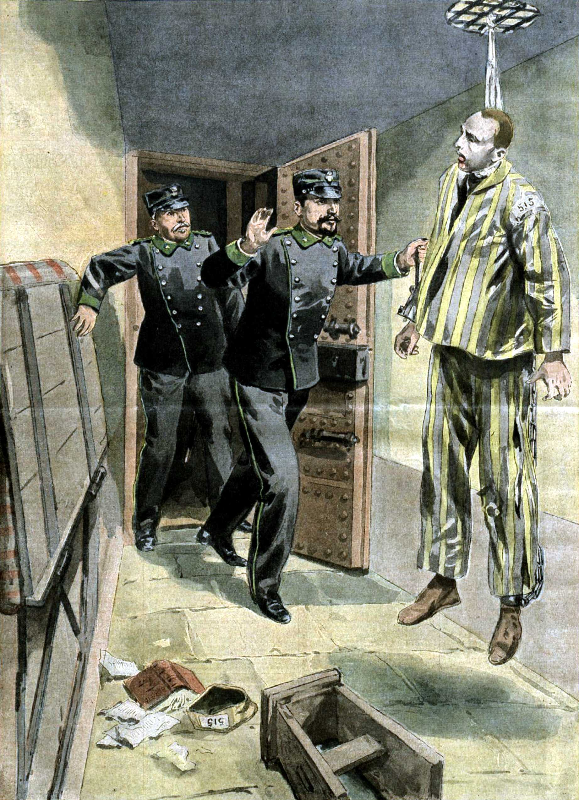 """El """"suïcidi"""" de Gaetano Bresci segons el diari parisenc """"Le Petit Journal"""" del 9 de juny de 1901"""