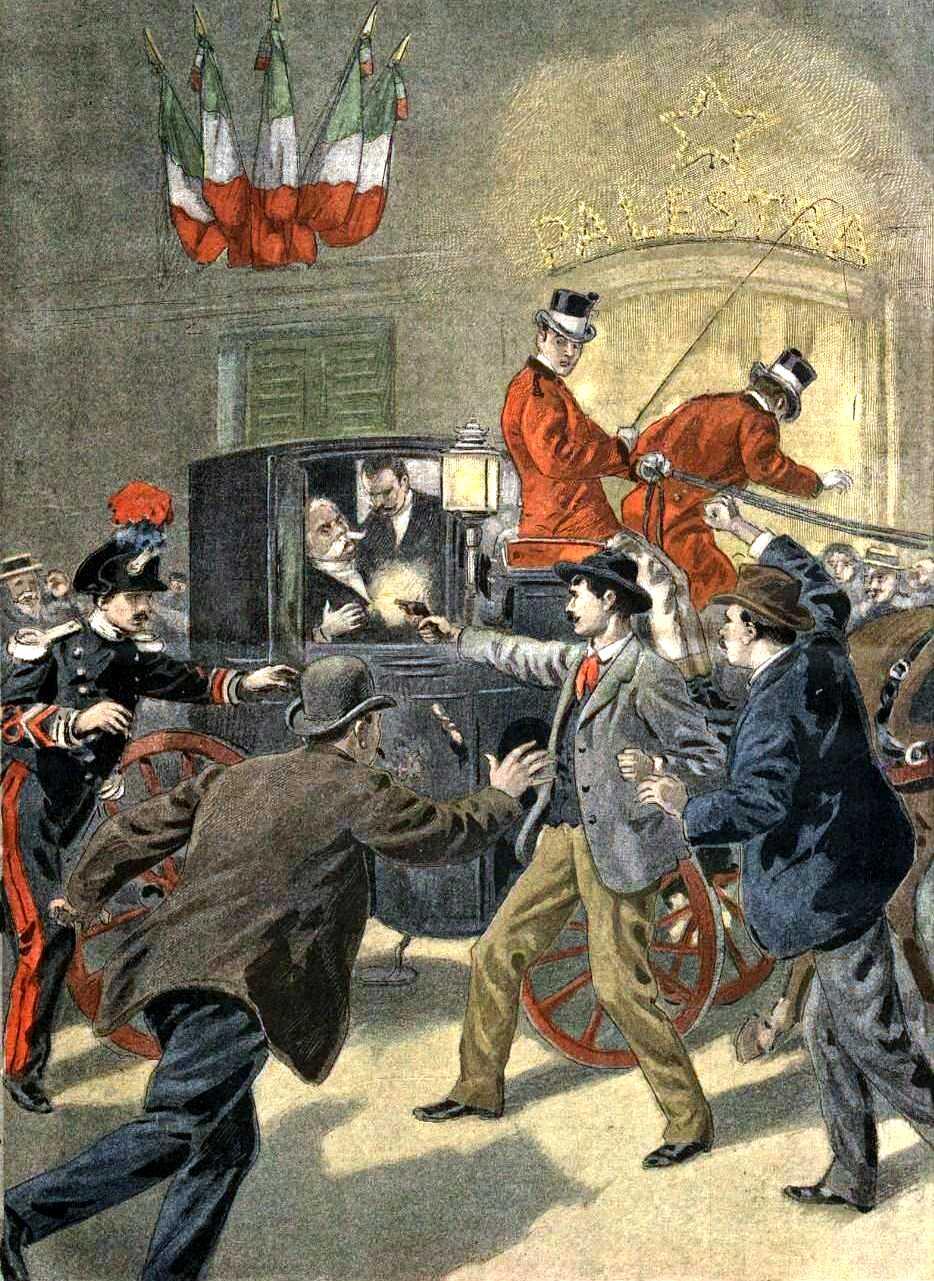 """El tiranicidi de Bresci segons el diari parisenc """"Le Petit Journal"""" del 12 d'agost de 1900"""