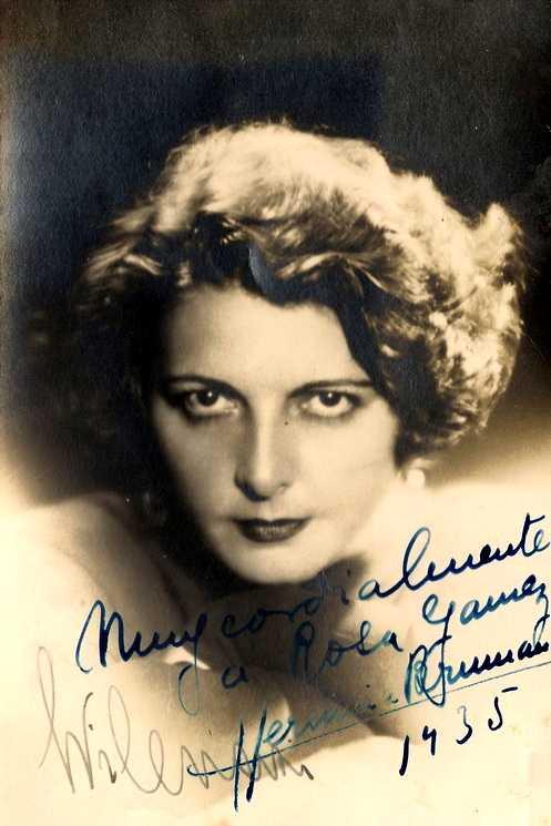 Herminia Catalina Brumana fotografiada per Wilenski (ca. 1935)