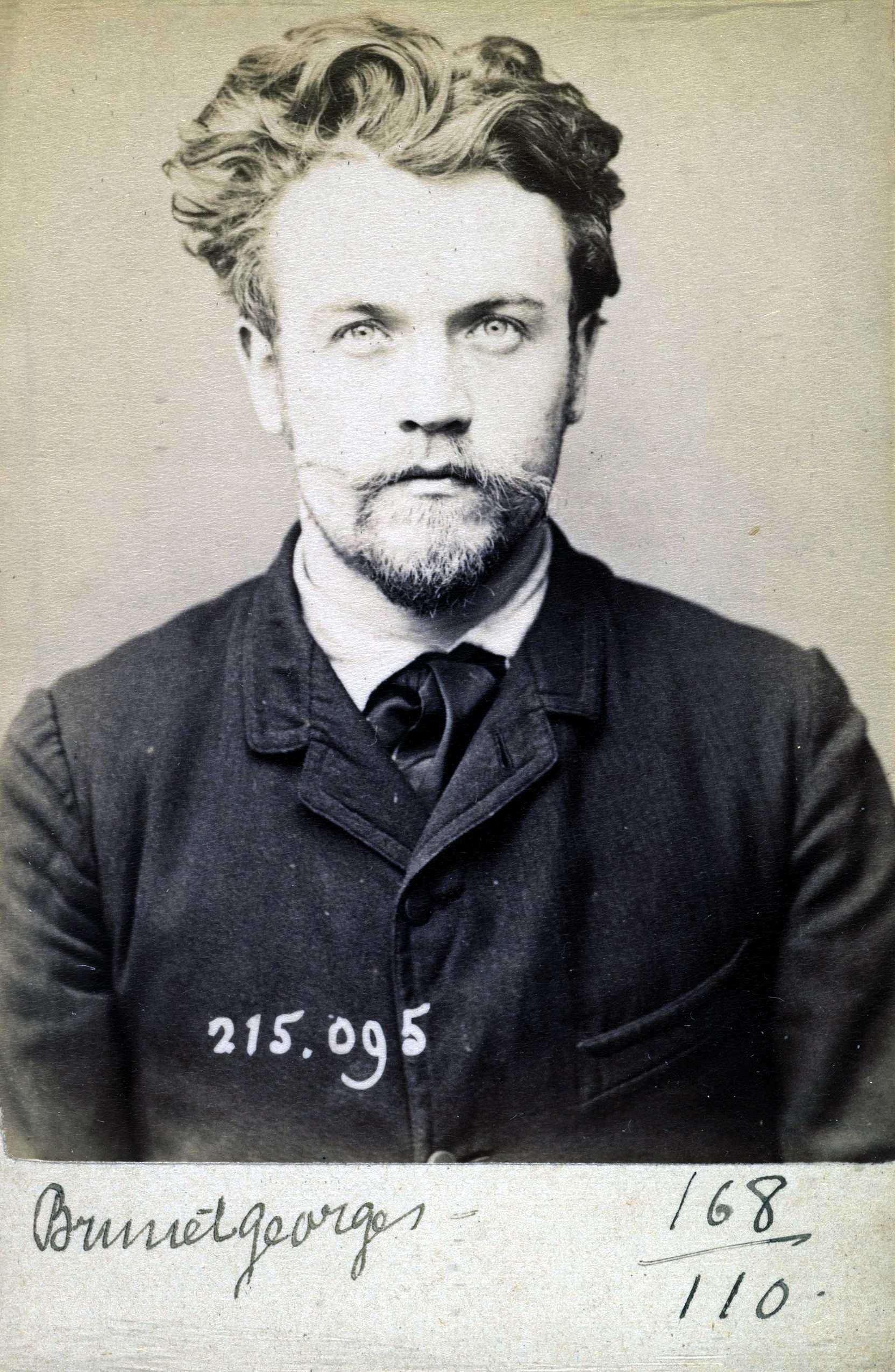 Foto policíaca de Georges Brunet (4 de febrer de 1894)
