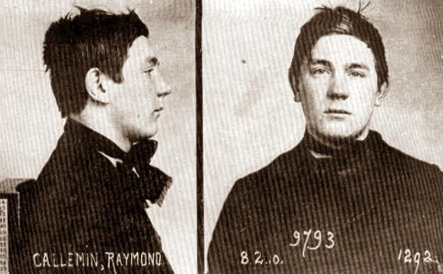Raymond Callemin en una foto policíaca