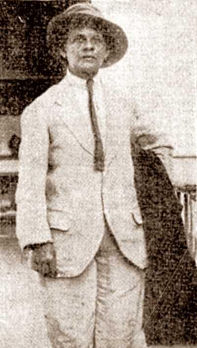 Luisa Capetillo, vestida d'home, quan fou detinguda el 24 de juliol de 1915 a l'Havana
