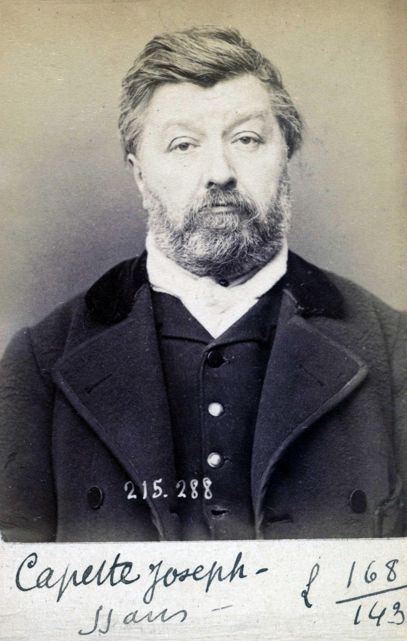 Foto policíaca de Joseph Capette (7 de març de 1894)
