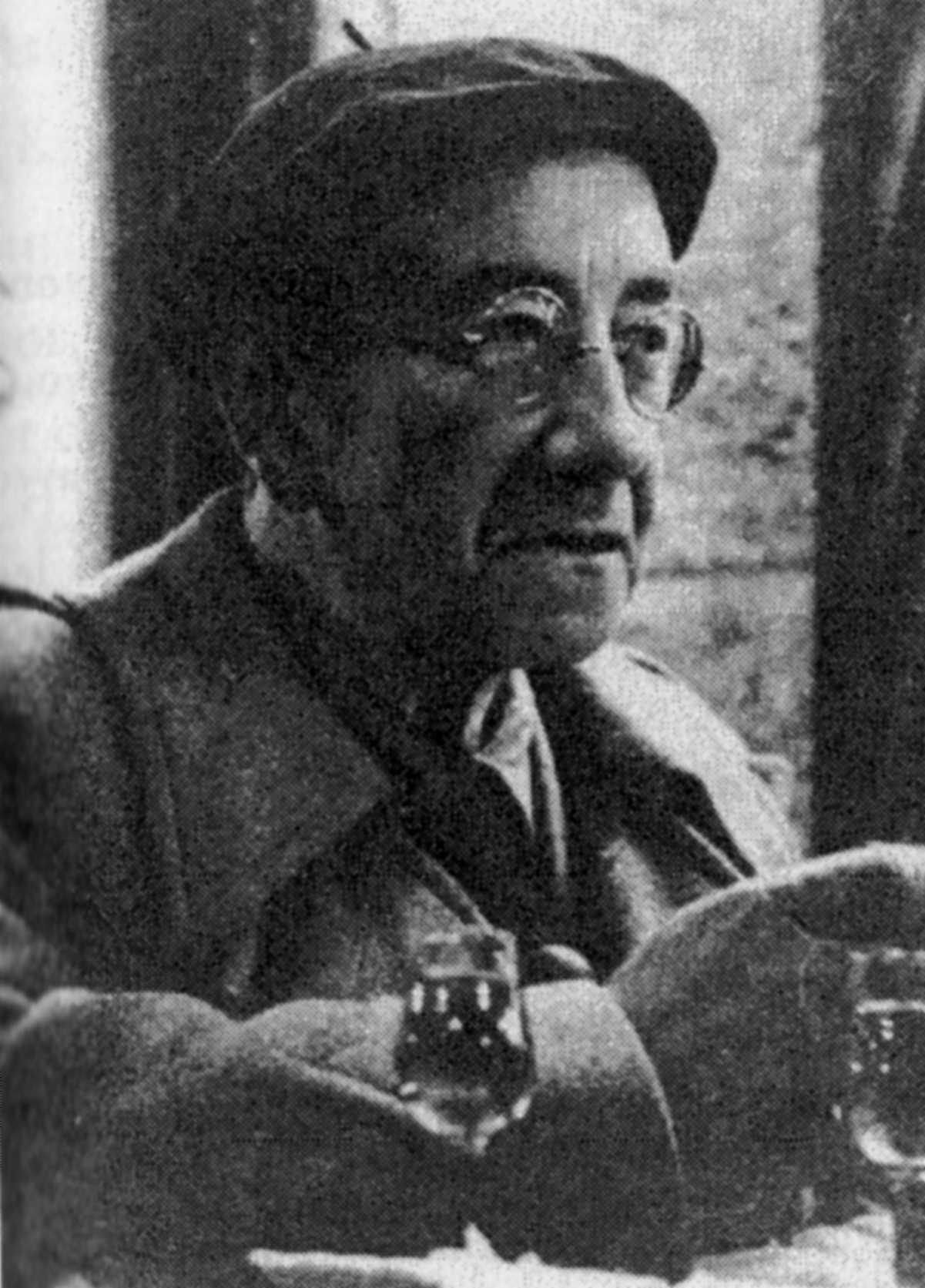 """Carl Einstein fotografiat en """"Match"""" (16 de febrer de 1939), possiblement la seva última foto"""