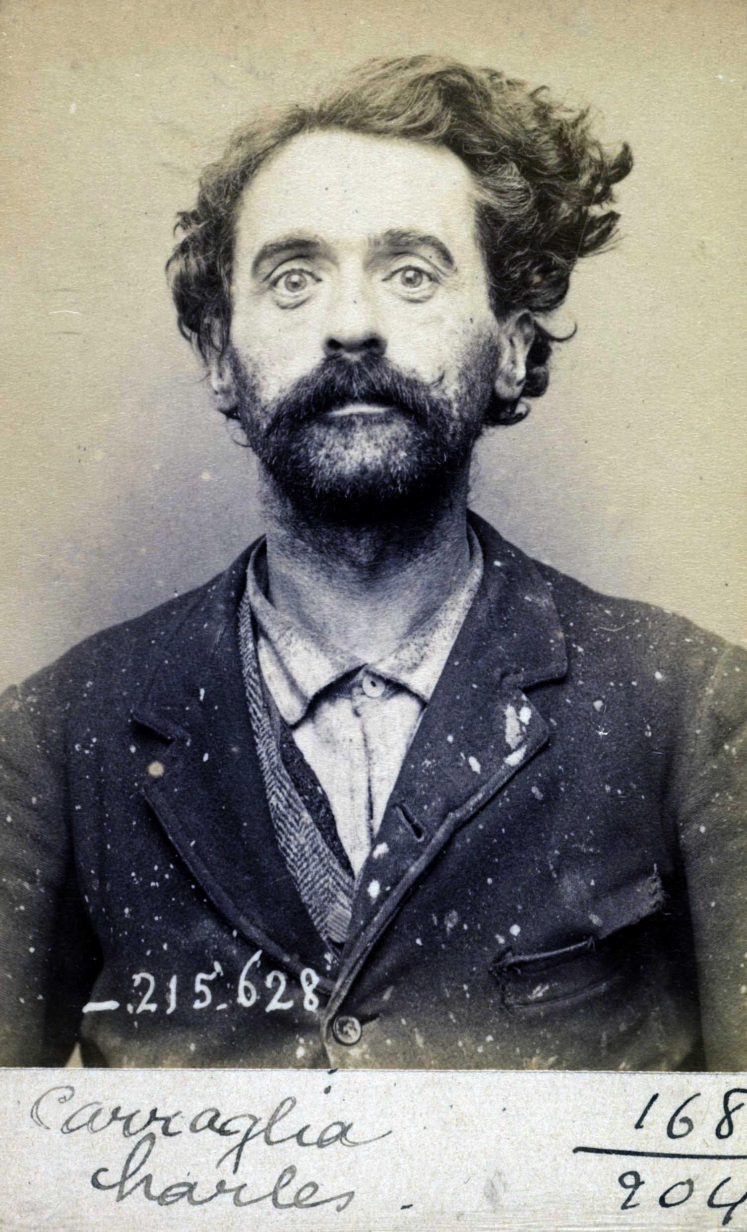 Foto policíaca de Carlo Carraglia (13 de març de 1894)