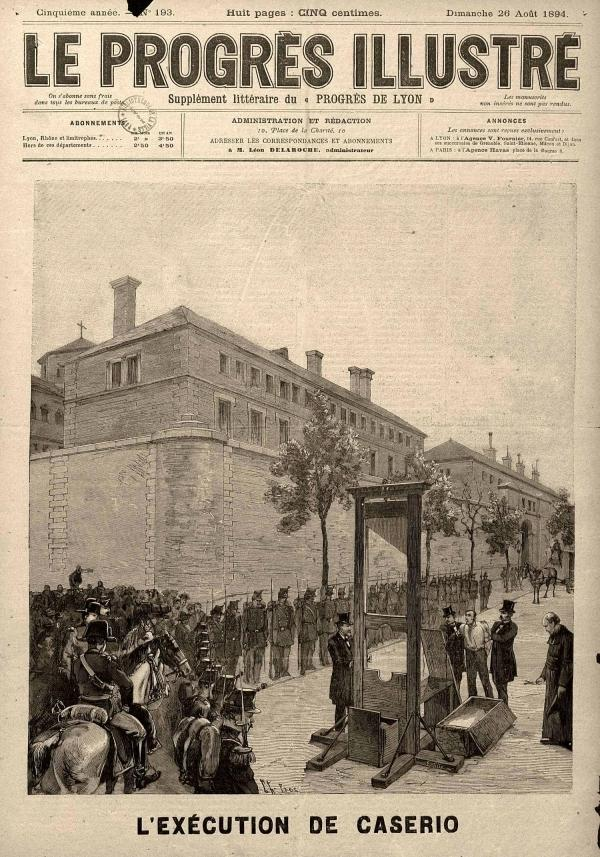 """Execució de Caserio segons """"Le Progrés Illustré"""" del 28 d'agost de 1894"""