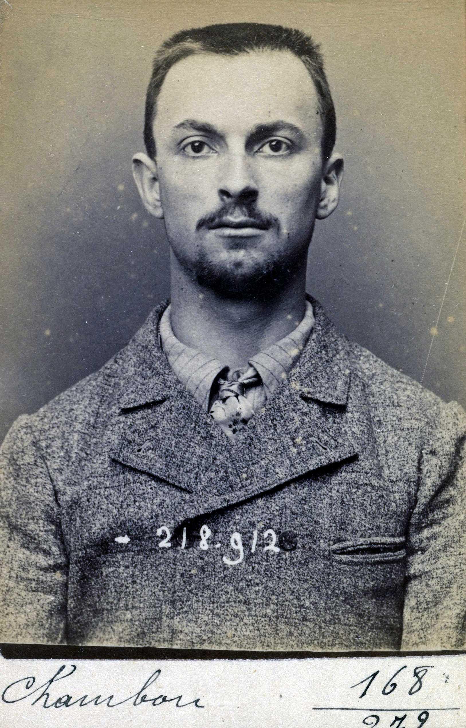 Foto policíaca de Raoul Chambon (26 de maig de 1894)