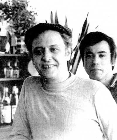 Paul Chenard (esquerra) amb Thierry (París, anys vuitanta)