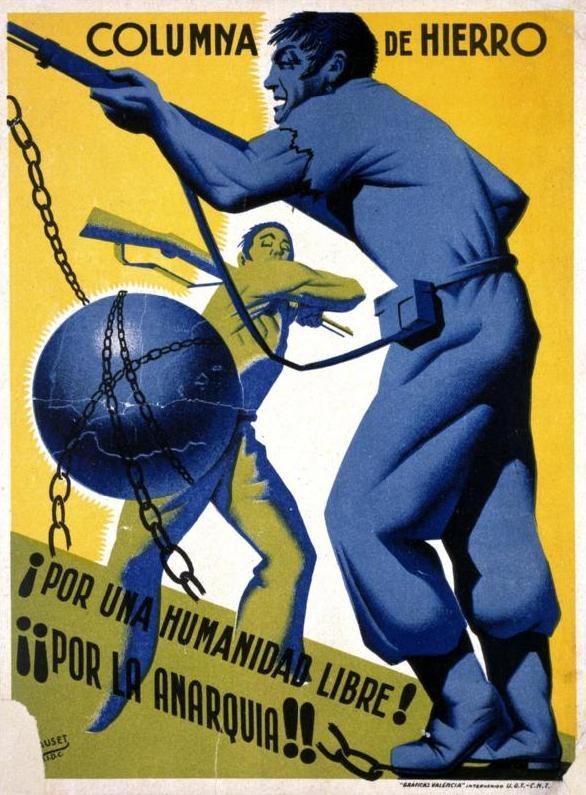 """Cartell propagandístic de la """"Columna de Ferro"""""""