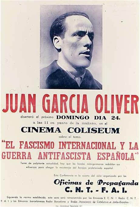 Cartell de la conferència de García Oliver