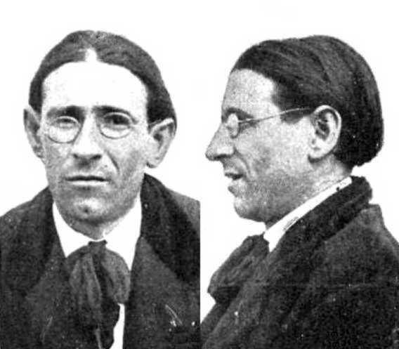 Foto antropomètrica de Salvador Cordón Avellán (ca. 1919)