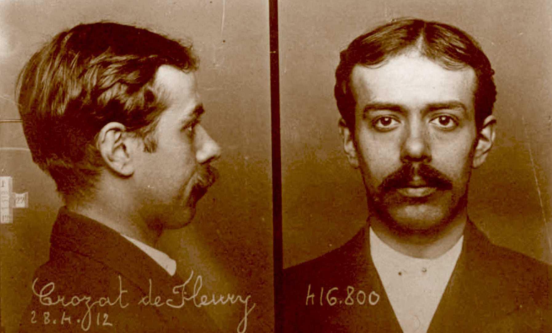 Foto policíaca de Henry Crozat de Fleury (28 d'abril de 1912)