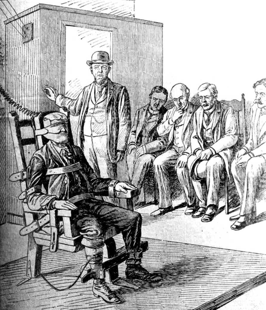 L'execució de Leon Czolgosz segons un dibuix de la premsa alemanya
