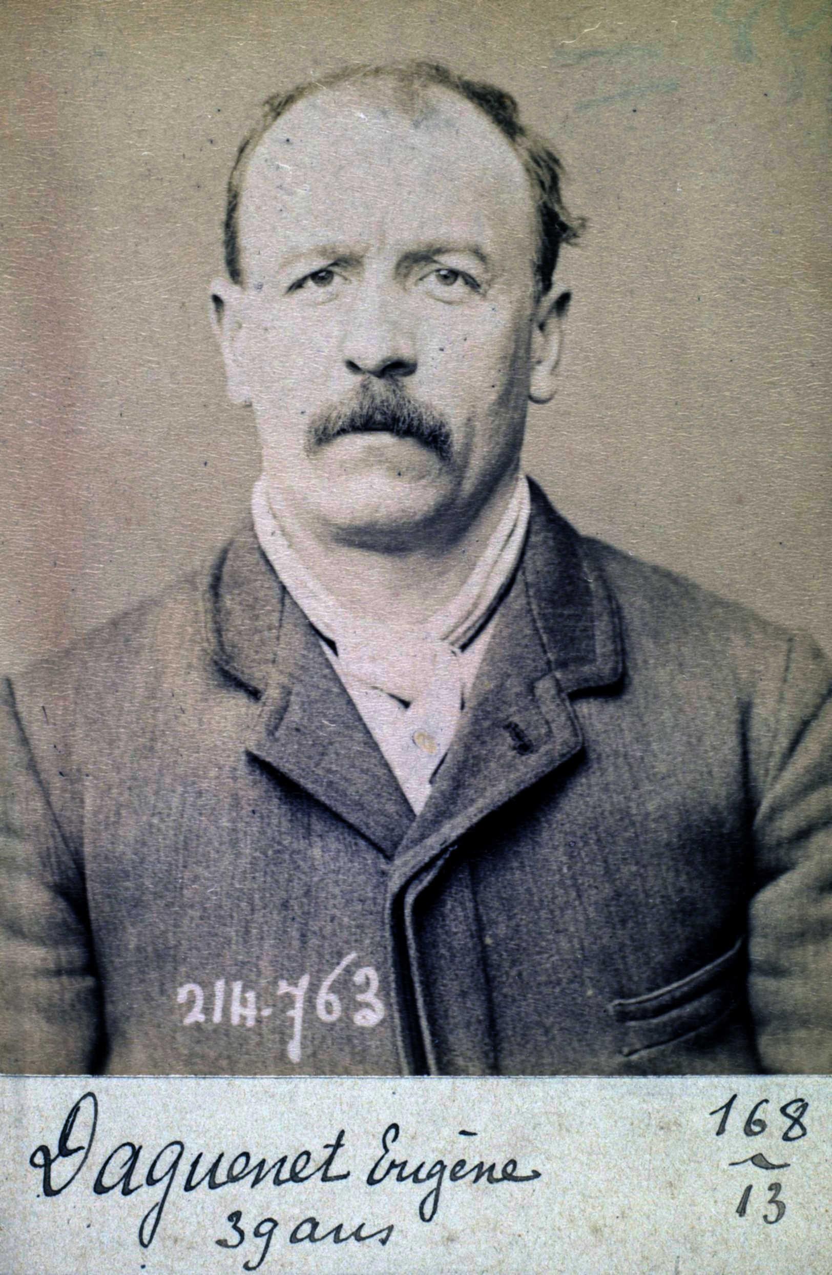 Fotografía policíaca d'Eugène Daguenet (26 de febrer de 1894)