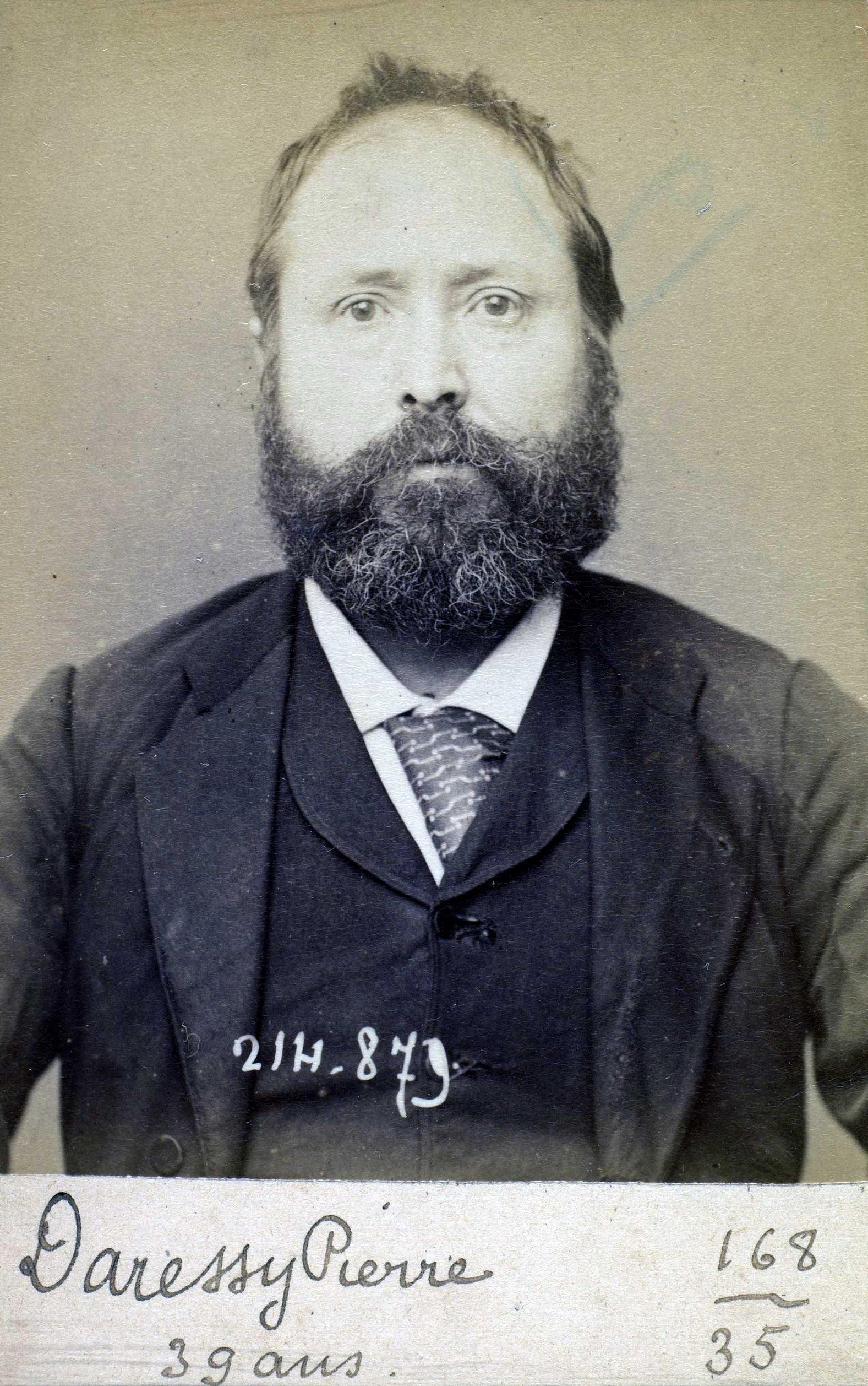 Foto policíaca de Pierre Daressy (28 de febrer de 1894)