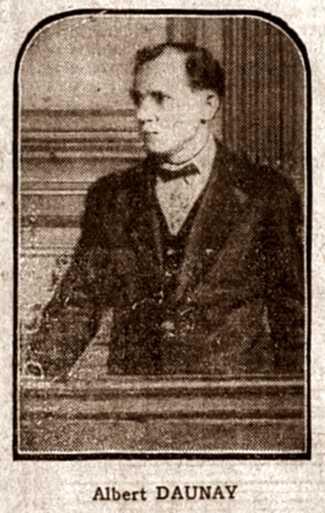 """Foto d'Albert Daunay durant el seu judici per homicidi publicada en el periòdic parisenc """"Le Matin"""" del 20 d'abril de 1929"""