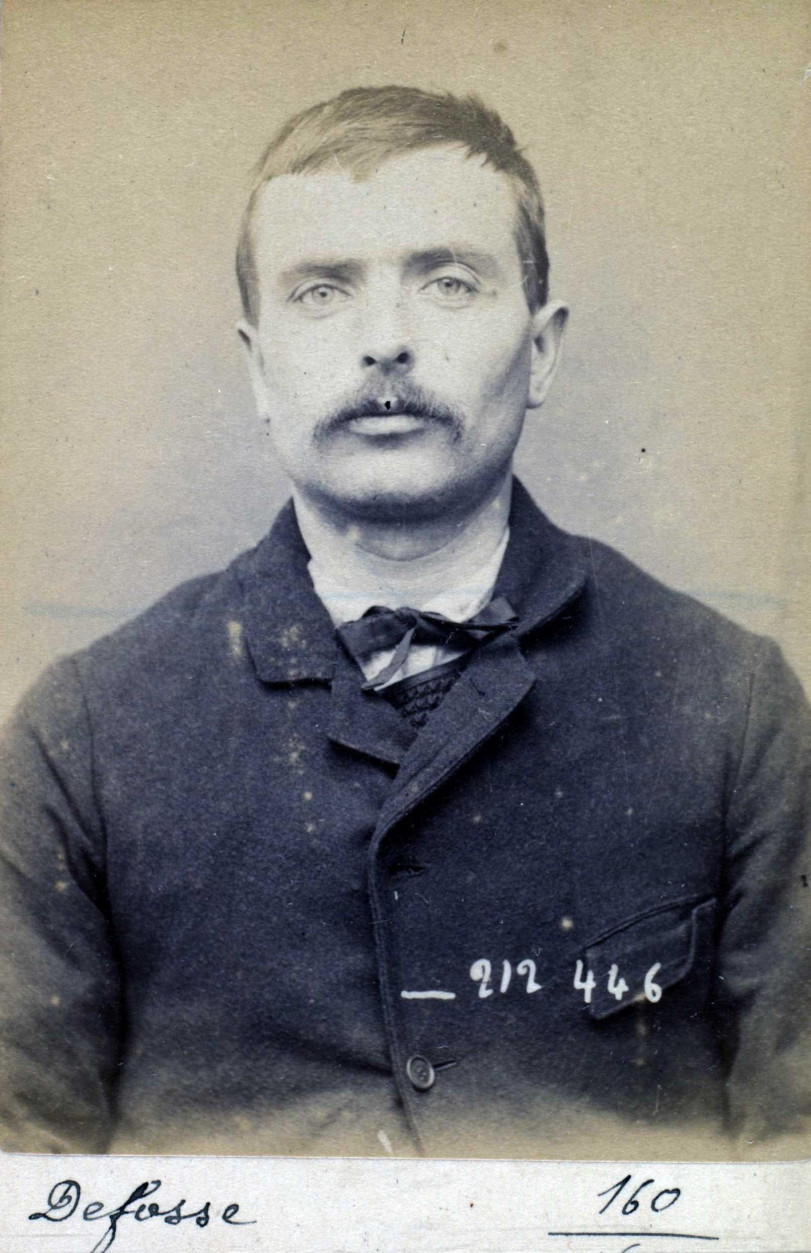 Foto policíaca de Claude Defosse (2 de gener de 1894)