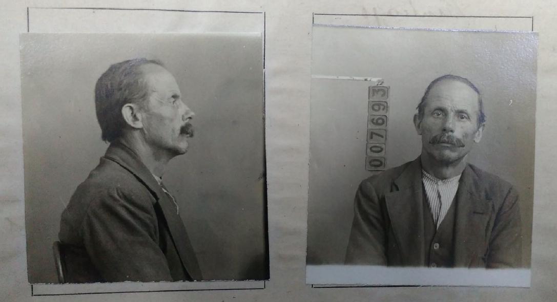 Foto policíaca de Juan De Marchi (1919)
