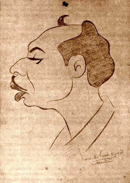 Retrat de Demetrio Gimeno realitzat per Teixidor al camp de concentració de Vernet