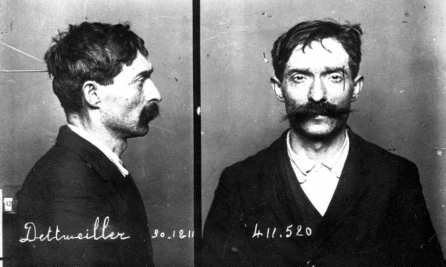 Foto policíaca de Jean Dettweiller (30 de desembre de 1912)