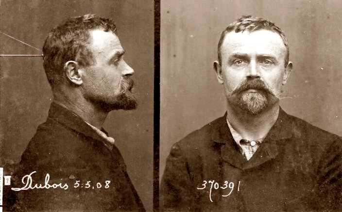 Foto policíaca de Joseph Dubois