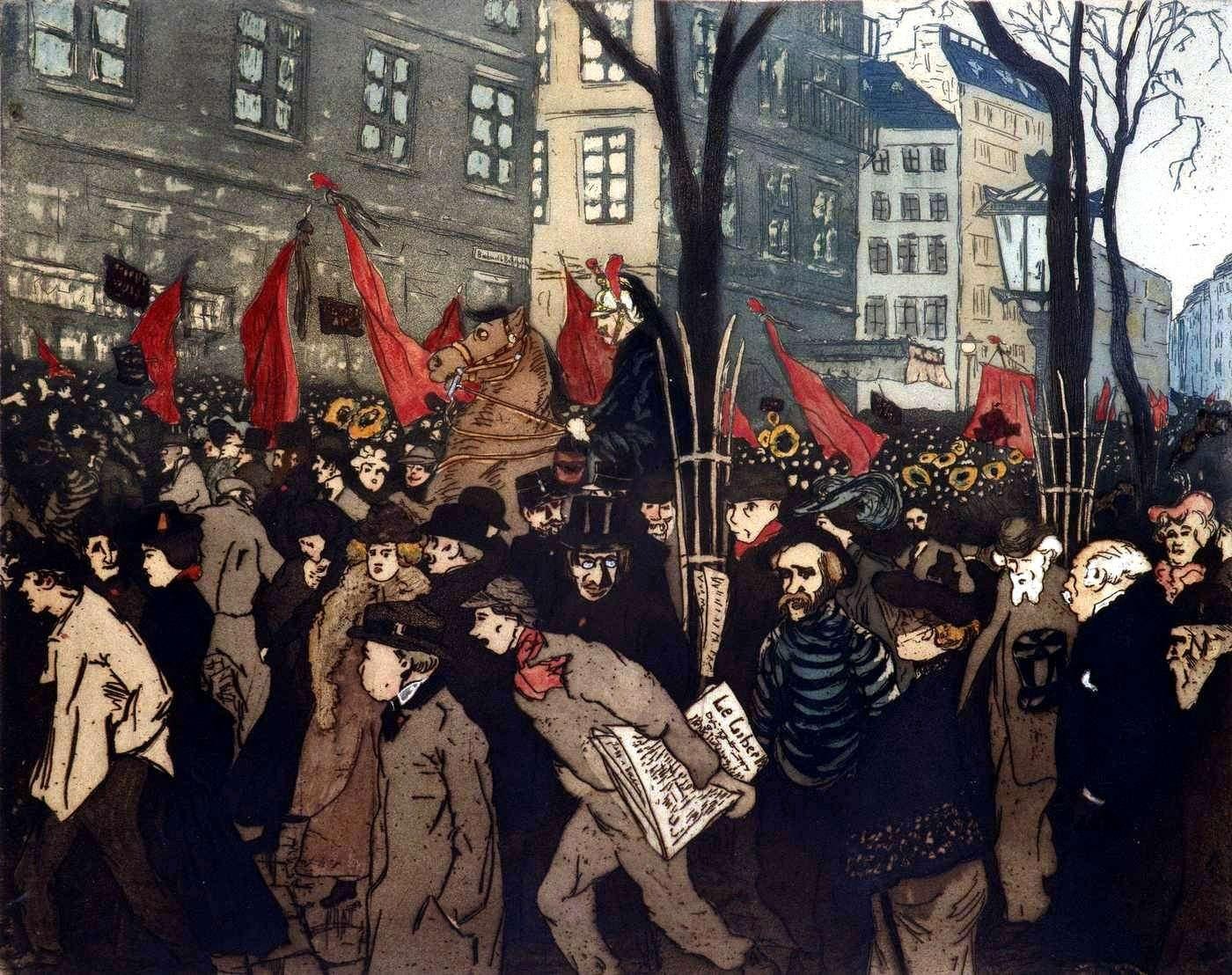 """Les obsèques de Louise Michel"", obra d'Albert Peters-Desteray (1905)"
