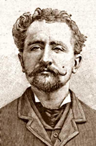"""Retrat de Georges Étiévant segons el periòdic parisenc """"L'Illustration"""" del 29 de gener de 1898"""