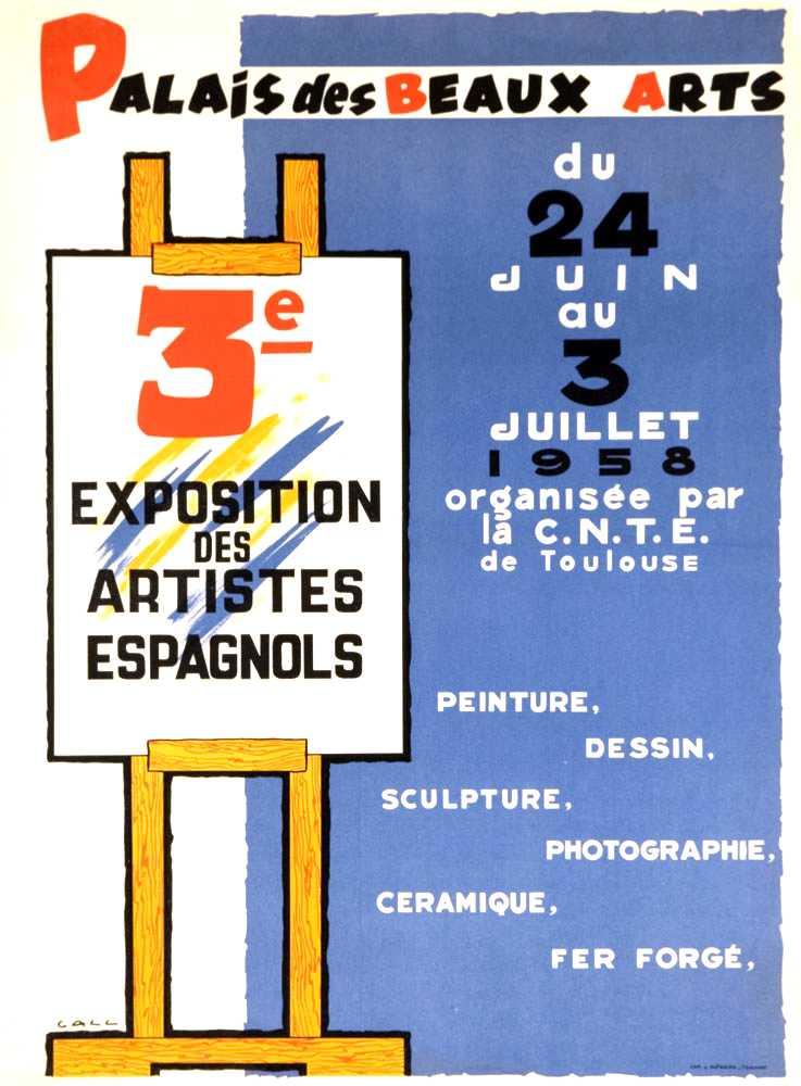 """Cartell de la """"III Exposition des Artistes Espagnols"""" realitzat per Joan Call Bonet (""""Call"""") [CIRA-Lausana]"""