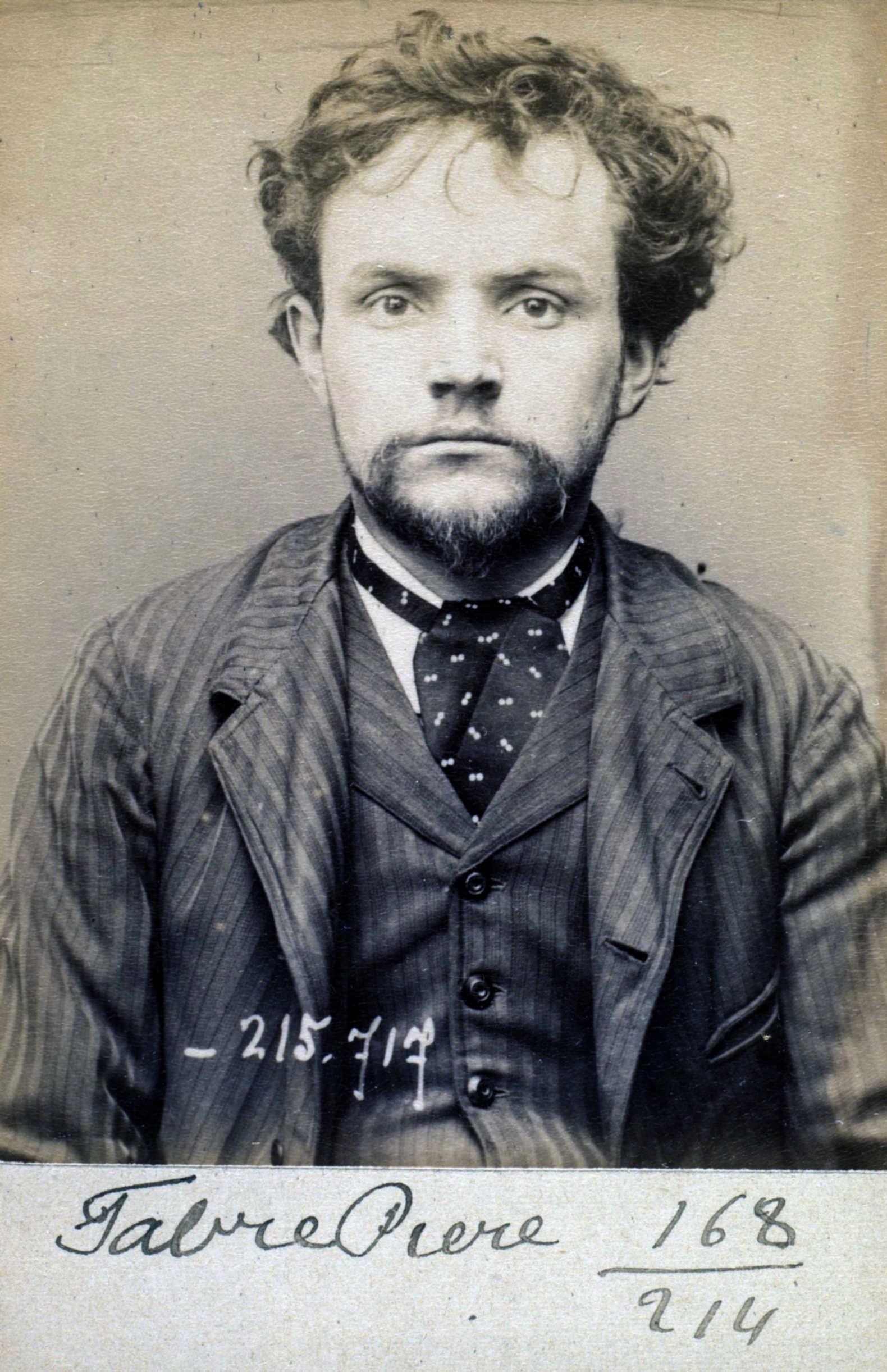 Foto policíaca de Pierre Fabre (15 de març de 1894)