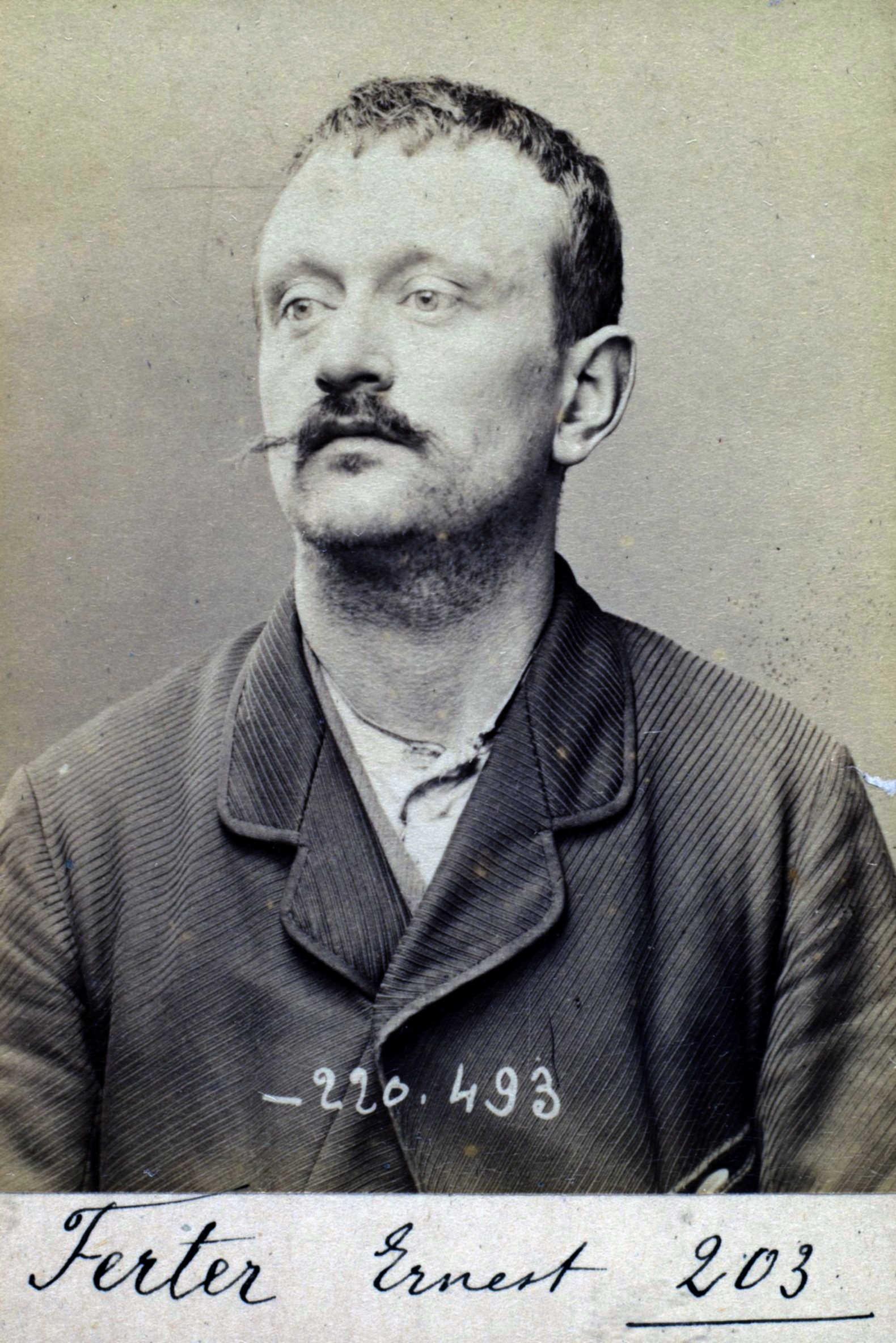 Foto policíaca d'Ernest Ferter (2 de juliol de 1894)