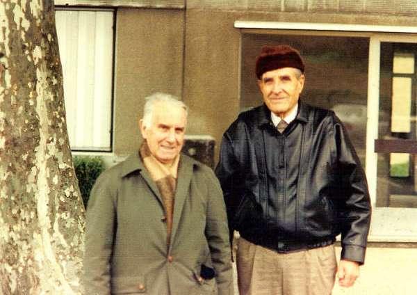 Flor de Burgos (esquerra) amb el seu gran amic Juan López Carvajal