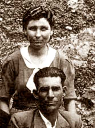 Bartolomé Flores Cano i sa companya Juana Alonso Torres
